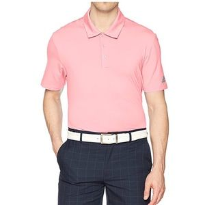 NWT adidas Golf Men's Ultimate 365 Solid Pink Polo